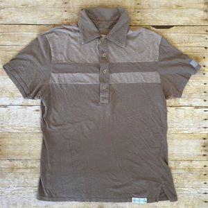 Men's collared button down polo shirt